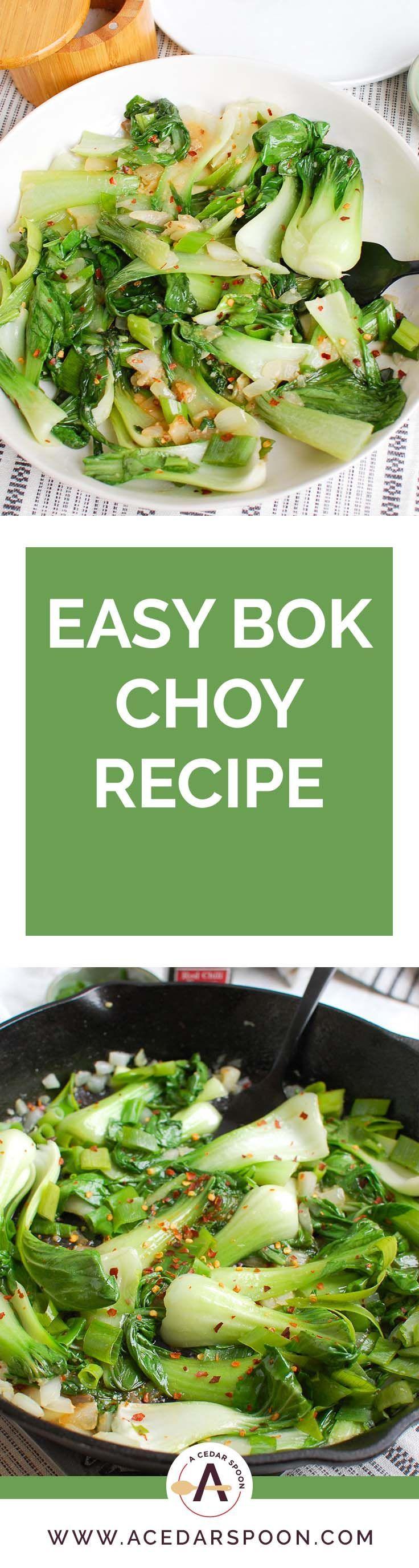 Easy bok choy recipe recipe bok choy recipes easy bok