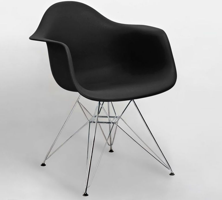 Black eames moulded wire frame dining armchair from danetti black eames moulded wire frame dining armchair from danetti keyboard keysfo Images