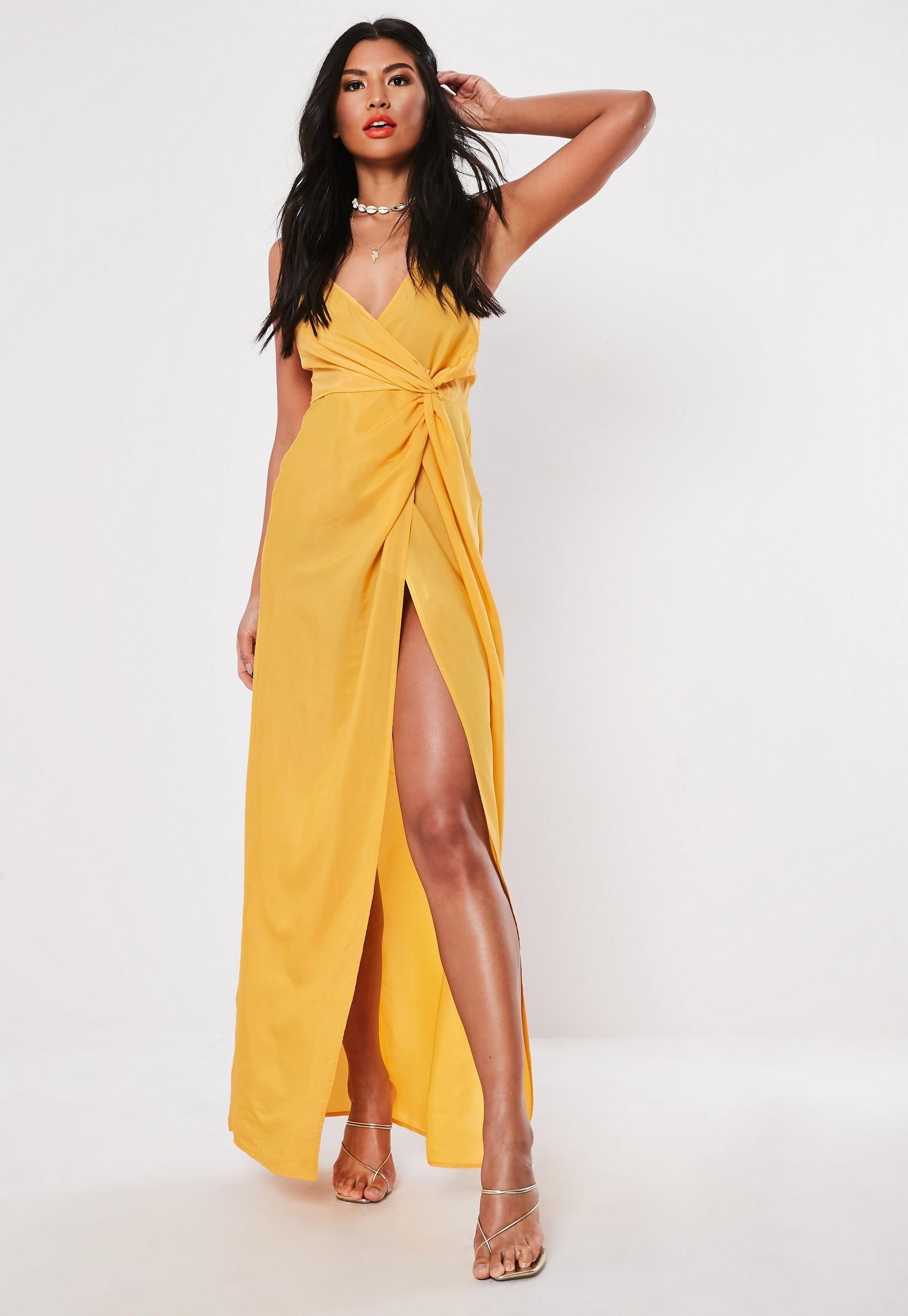 Mustard strappy twist maxi dress mustard dress outfit