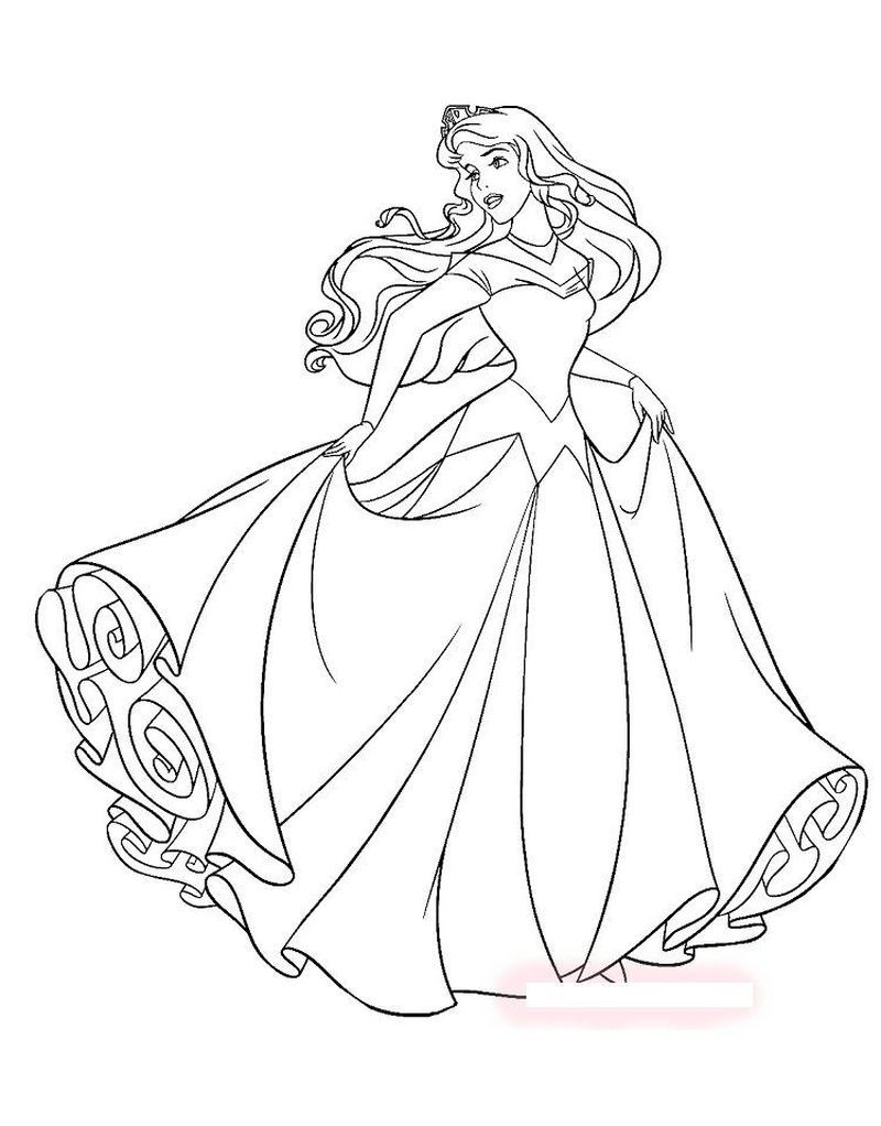 Princess Coloring Pages Not Disney Gambar Sleeping Beauty Disney