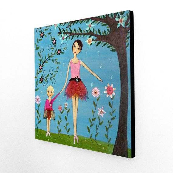 Melody Mother and Daughter Large Art Block Painting