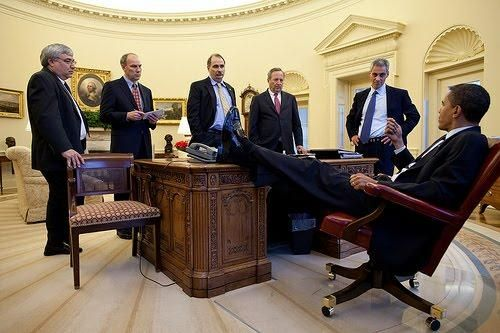 obama oval office desk. President Obama With Feet On Desk : Snopes.com Oval Office