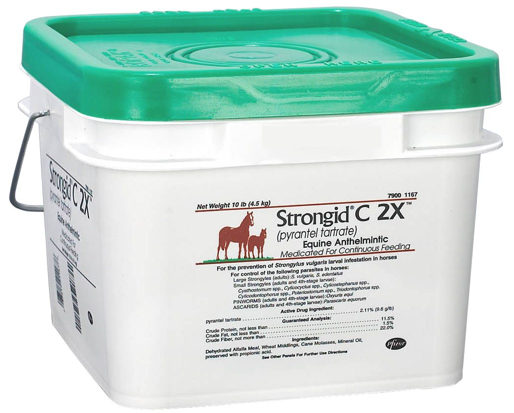 Strongid C 2x Pellet Horse Wormer (Pyrantel Tartrate)