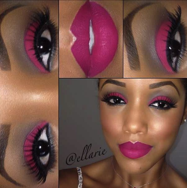 I love fuchsia on brown skin. However, it must be the right shade ...