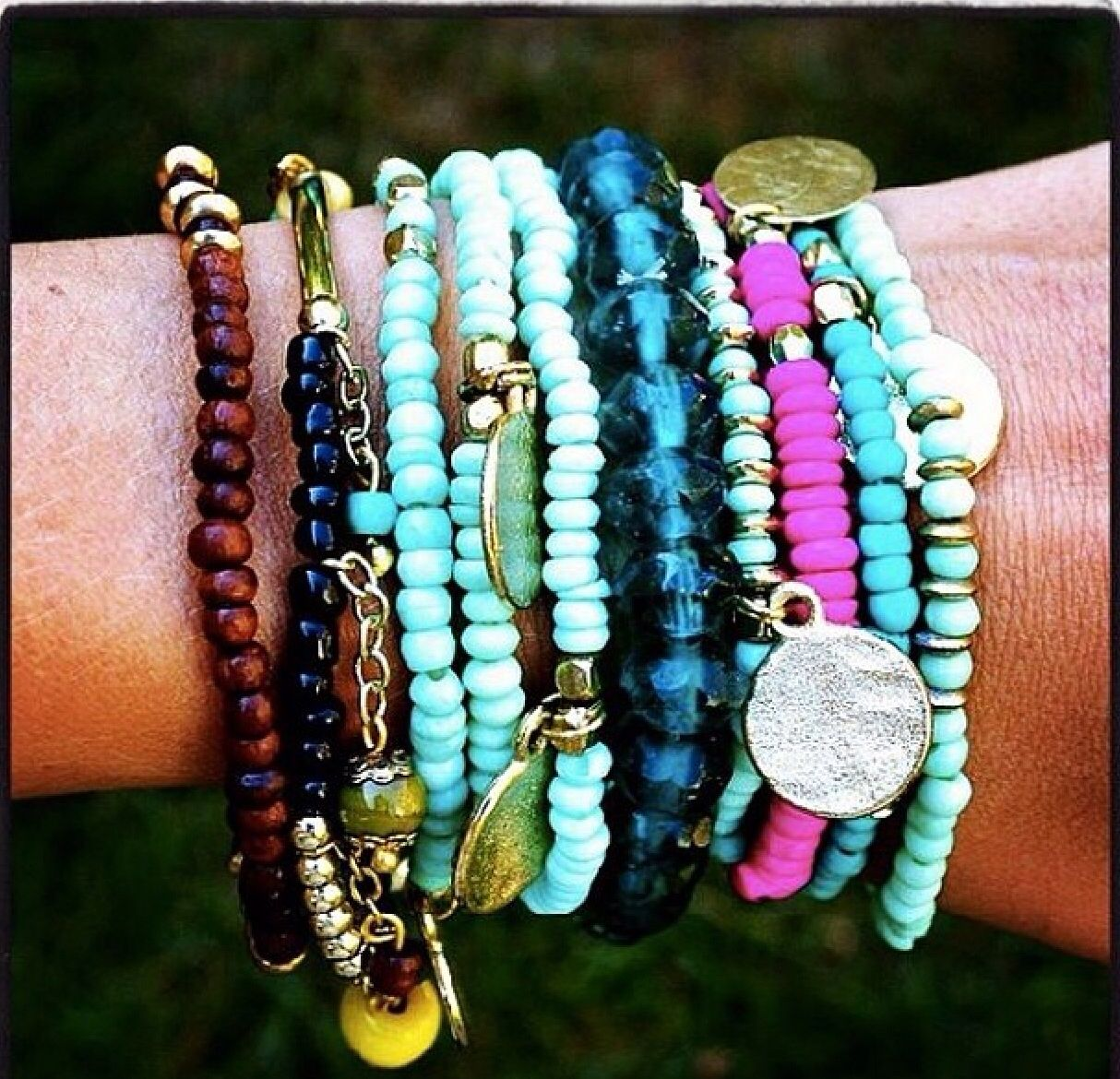 Love this hohoho style arm party!! | Brace yourself | Pinterest ...