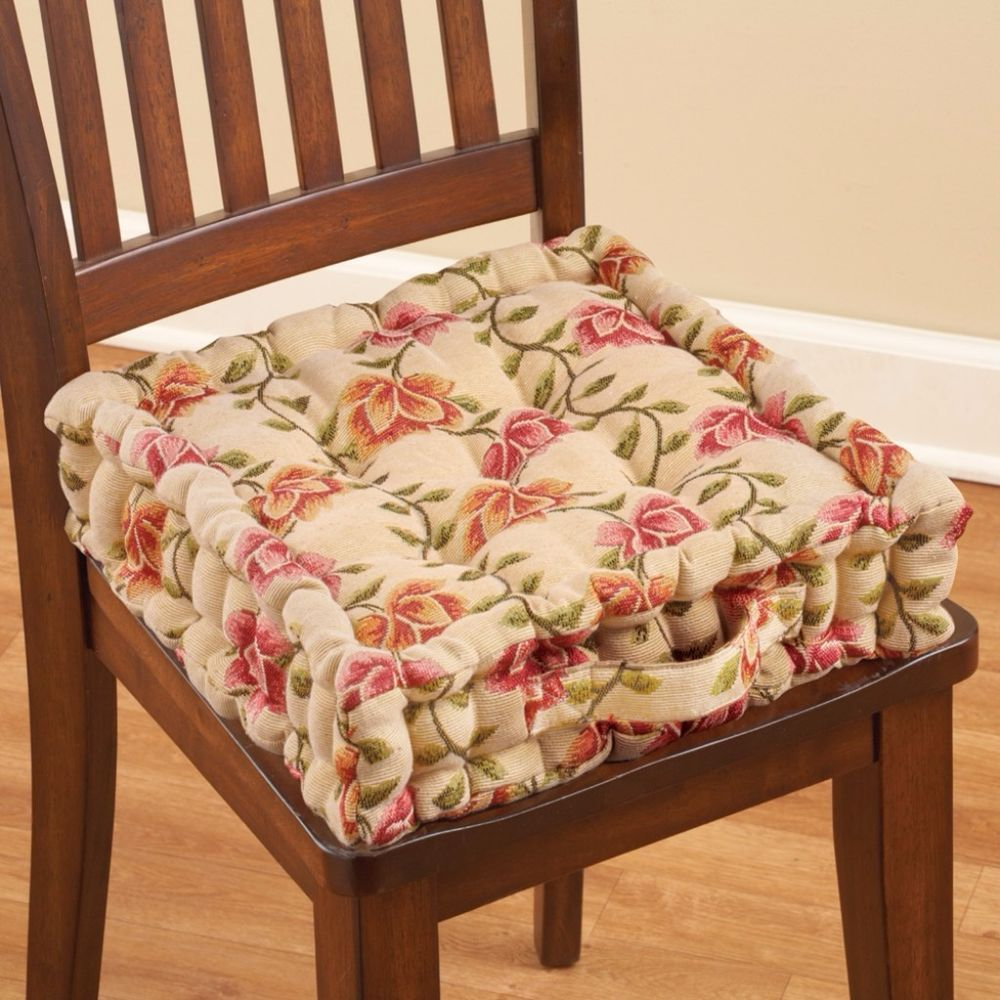 thick chair cushions steel in kolkata padded floral tufted cotton cushion comfortable home decor 16 inches chaircushion carryinghandle paddedcushion
