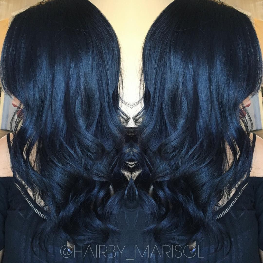 Black Blue Modernsalon Btcpics Colormelt Blackbluehair Cosmoprofbeauty Licensedtocreate Haircolor T Blue Black Hair Dyed Hair Blue Blue Black Hair Dye