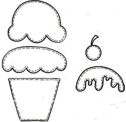 Moldes Para Hacer Manualidades Con Goma Eva Para Baby Shower Cupcake Patrones De Artesania En Fieltro Manualidades Moldes De Cupcakes
