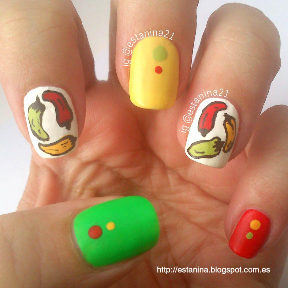 Mix entre dos retos: ¡Uñas de jalapeño picante!