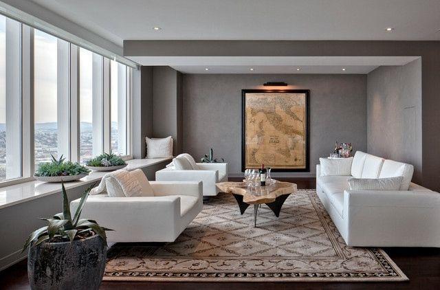 Dcoration Et Design Du Salon Moderne En  Ides Superbes  Table