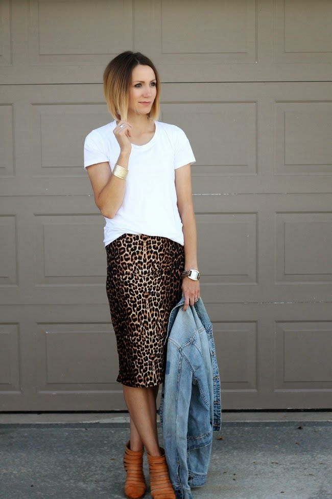 cd1d61bd8b Leopard pencil skirt