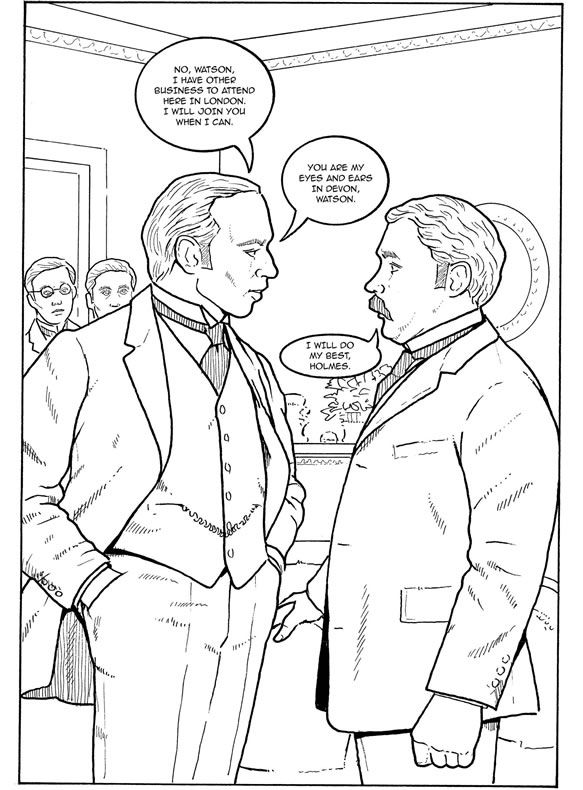 Color Your Own Graphic Novel SHERLOCK HOLMES: The Hound of