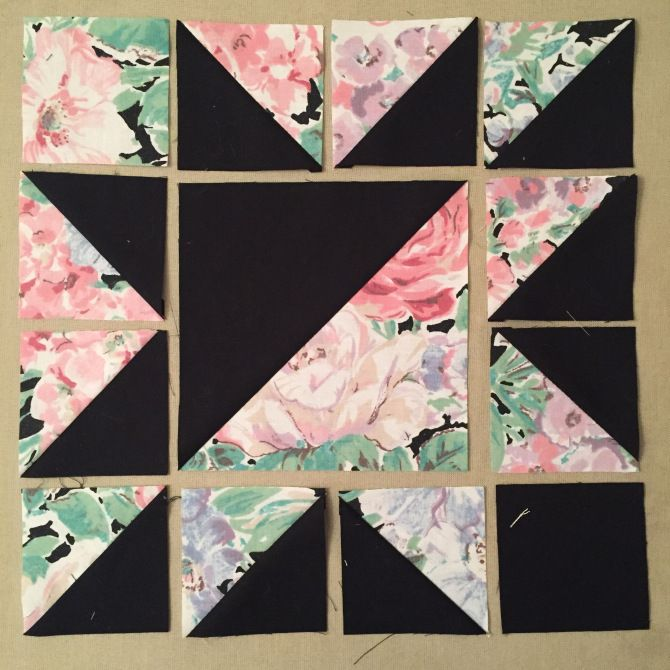 For the love of half square triangles {shortcuts + block design} #starquiltblocks