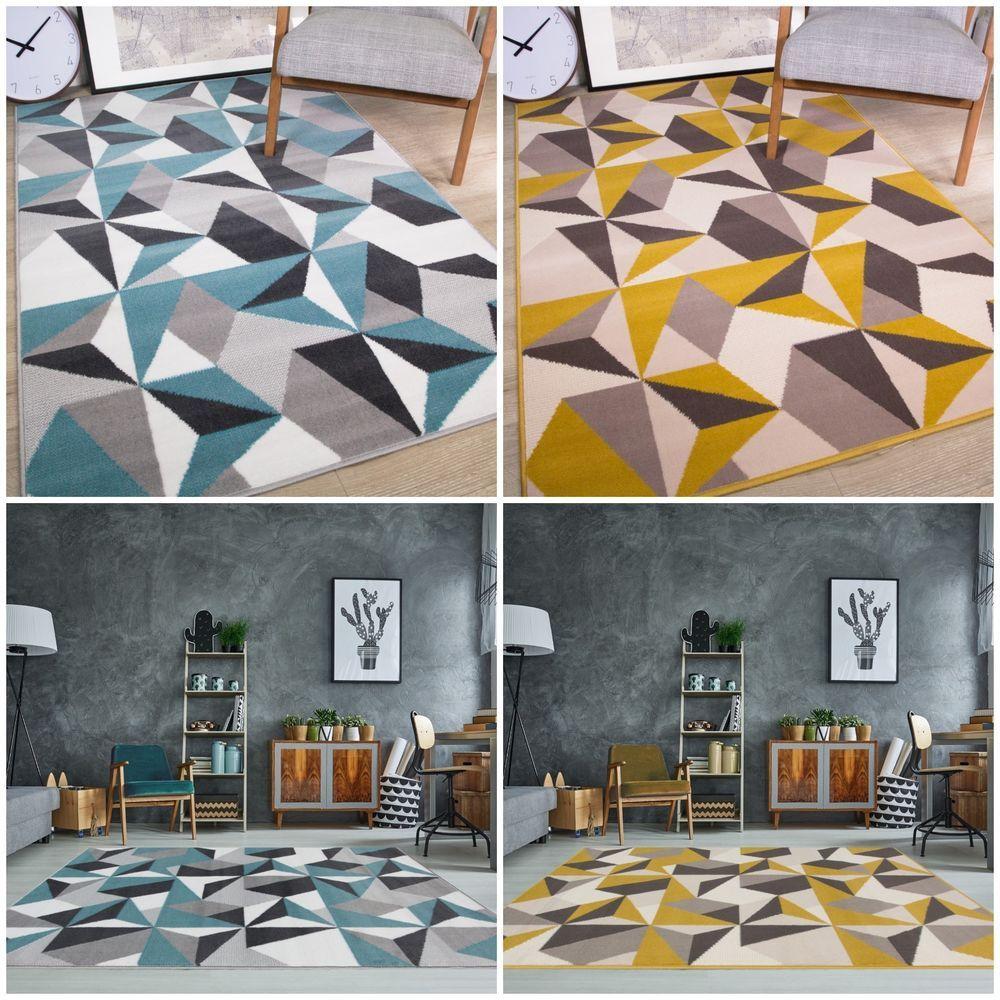 Best Details About Duck Egg Blue Living Room Rug Kaleidoscope 400 x 300