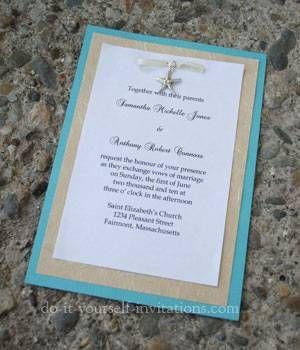 Beach Theme Wedding Invitations Beach Theme Wedding Invitations