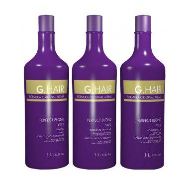 819702741 G Hair Kit perfect Blond - 3 Passos - 1000ml em 2018 | Produtos ...