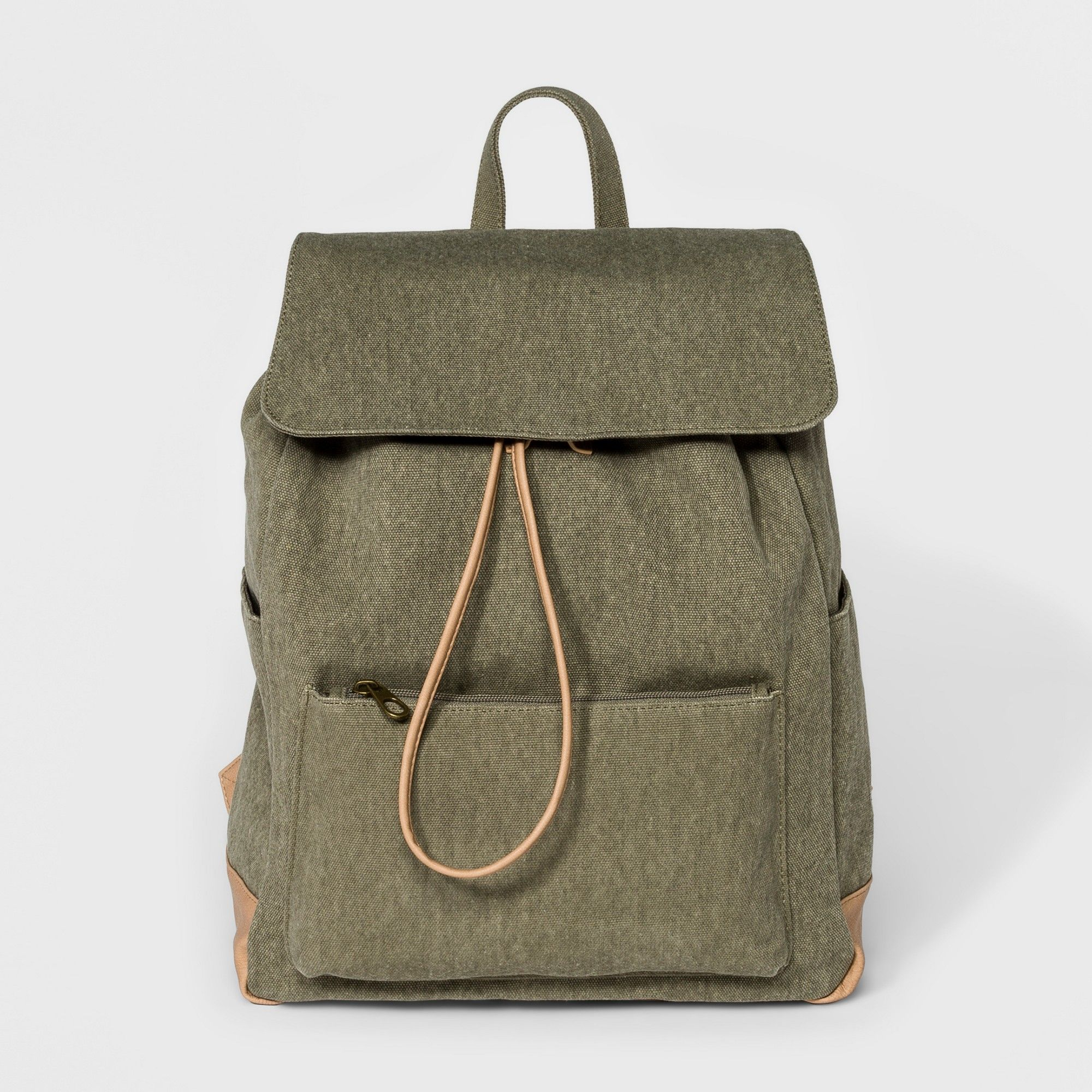 b090c7eb4494 Large Flap Olive (Green) Canvas Backpack - Universal Thread Olive ...