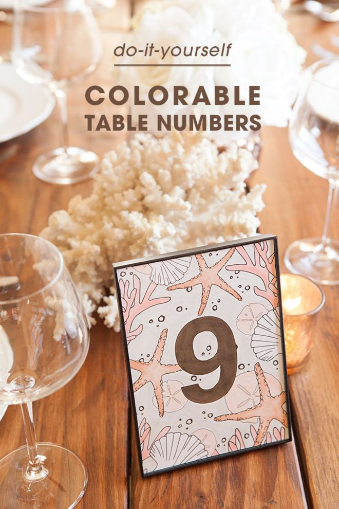 Check out these awesome table number you can color printable check out these awesome table number you can color wedding craftsdiy solutioingenieria Gallery