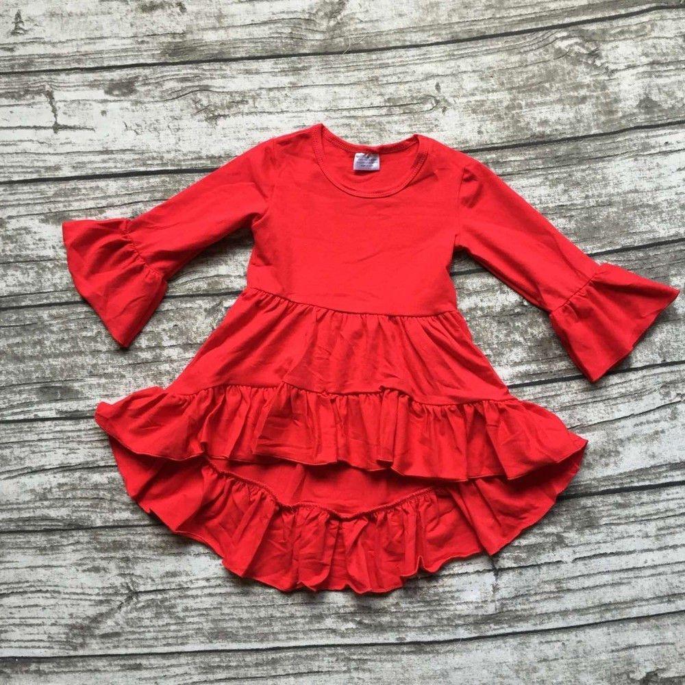 long sleeve ruffle dress toddler