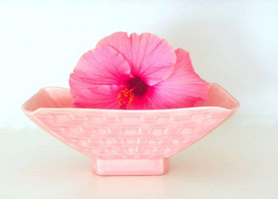 Vintage California Pottery Planter Miramar Pink 50s by Gardenage