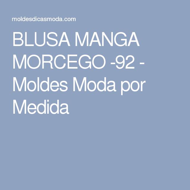 BLUSA MANGA MORCEGO -92 - Moldes Moda por Medida