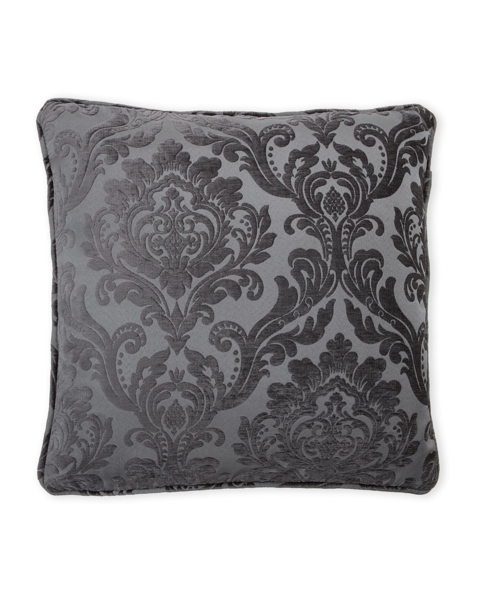 Rodeo Home Charcoal Damask Decorative Pillow | *Home