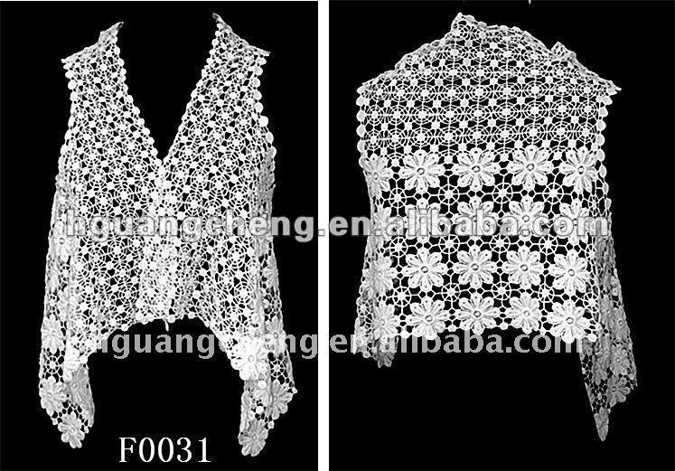 Algodón Verano Crochet Chal/crochet Moda Chalecos Para Accesorio De ...