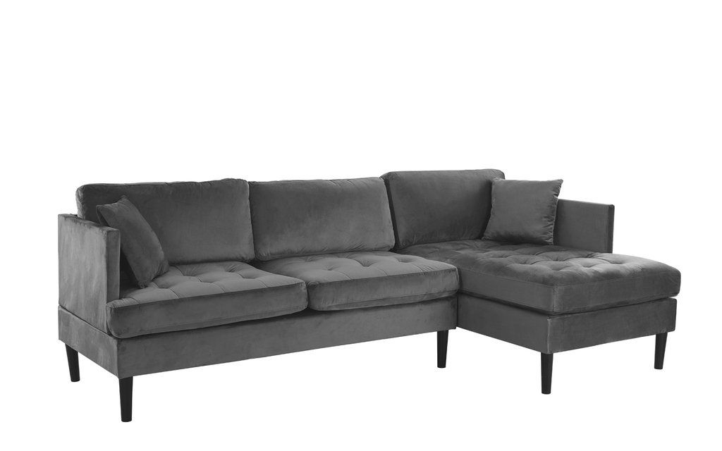 Greta Old Hollywood Velvet Sectional Sofa | Home inspiration ...