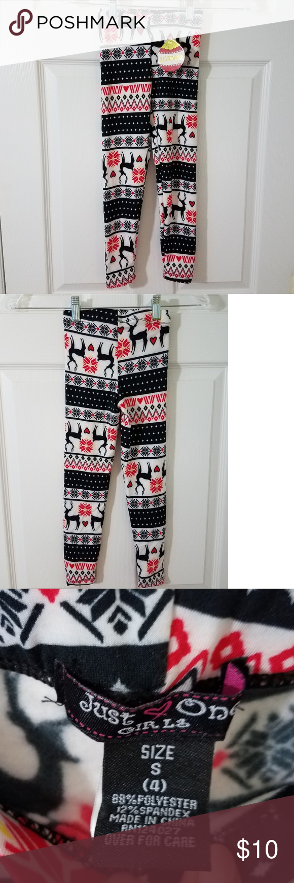 Kid's Just One Girls Holiday Leggings