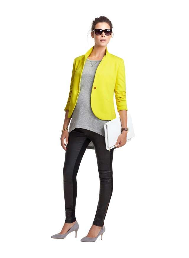 82a476e89ef928 Dover Maternity Leather Leggings in Grey | ISABELLA OLIVER US | The ...