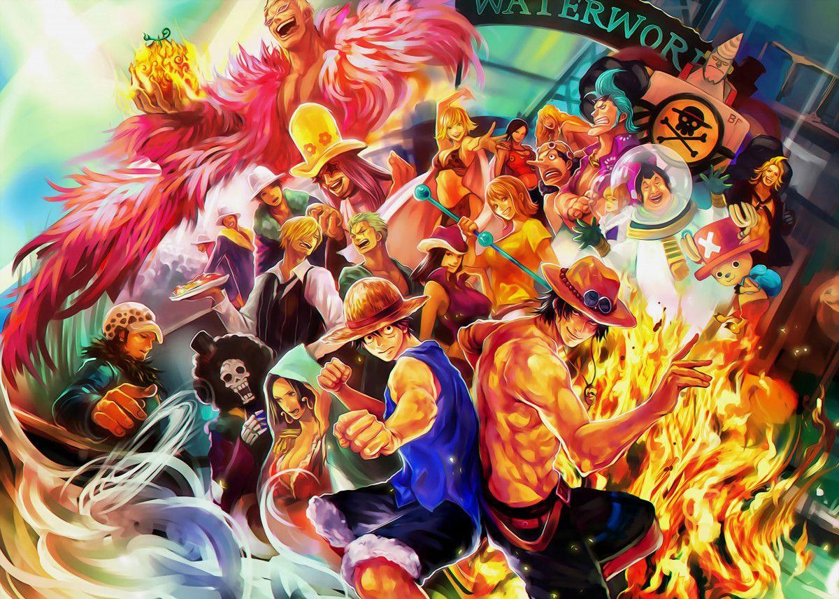 Waterworld Poster By Animefreak Studio Displate Anime One Piece Wallpaper Iphone Anime One