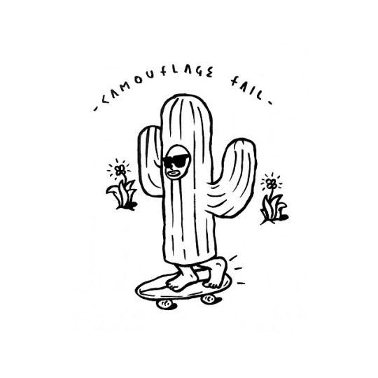 Illustration By Adedewo Skate Fun Cactus Ide Ide Dessin
