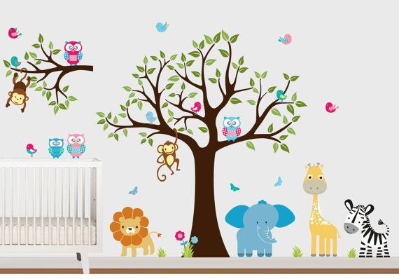 Childrens Tree Wall Decal  Nursery Wall by ModernWallStickers, $79.00