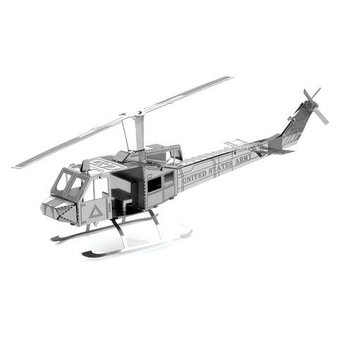 Bell UH-1 Huey Iroquois Metal Earth 3D Model Collectible Kit | Great