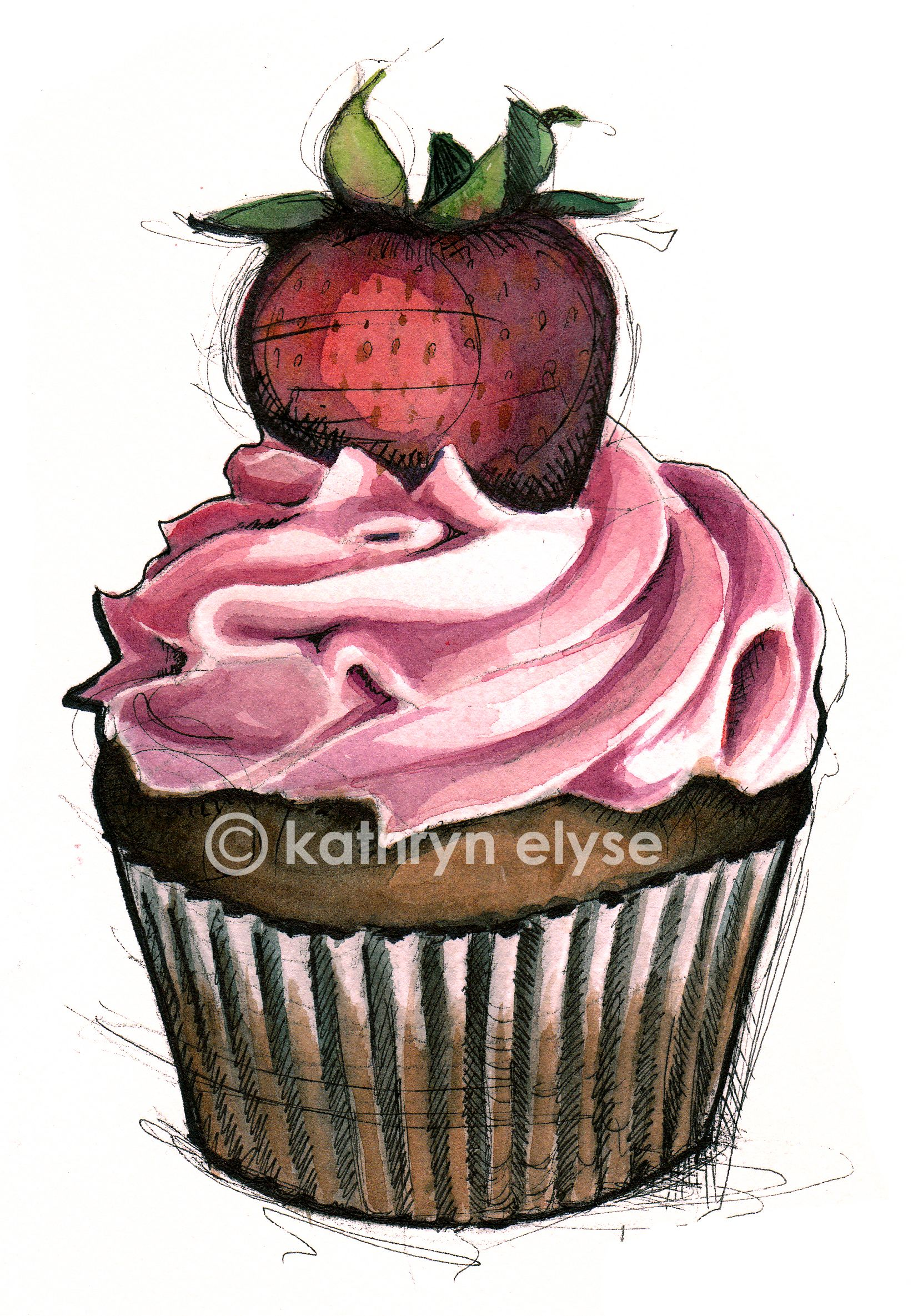 Cupcakecp Jpg 1662 2370 Cupcake Illustration