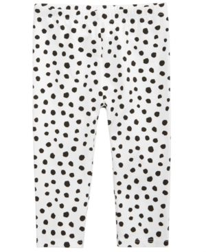 901c0e514d906 First Impressions Dot-Print Leggings, Baby Girls (0-24 months), Created for  Macy's - White 3-6 months