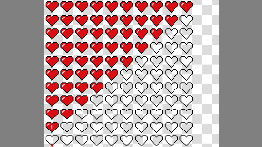 Making Heart Sprites For A Health Bar Is Way Too Satisfying Sprites Heart Sprite Video Games Health Bar