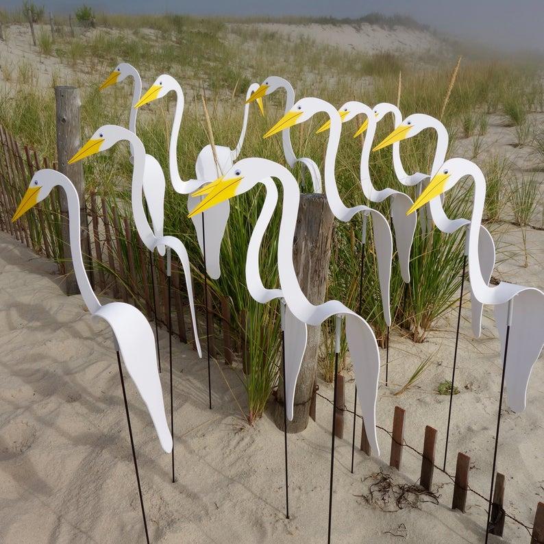 White Swirling Bird, Our Original Design! Whimsical