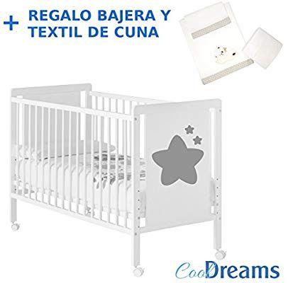 4 ruedas Cuna colecho de beb/é Axia + kit colecho inclu/ído 5 alturas de somier REGALO Cool-Dreams