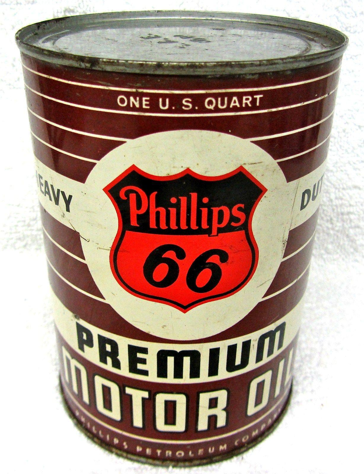 Phillips 66 heavy duty premium motor oil petroliana auto for Northland motor oils lubricants
