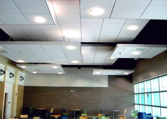 Suspended Acoustic Ceiling Panels With Lighting Acoustic Ceiling Panels Acoustical Ceiling Ceiling Design