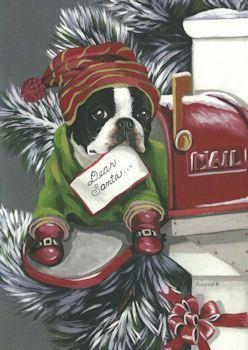 Boston Terrier Christmas Cards | Boston Babies!!! | Pinterest ...