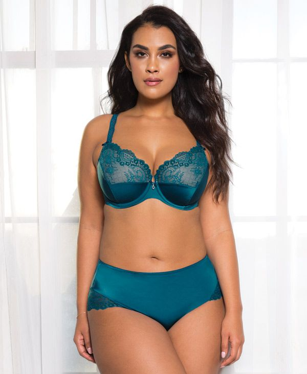 92c12cb9ee6 Curvy Couture Tulip Lace Push Up in new turquoise color 2017 http    lingeriebriefs