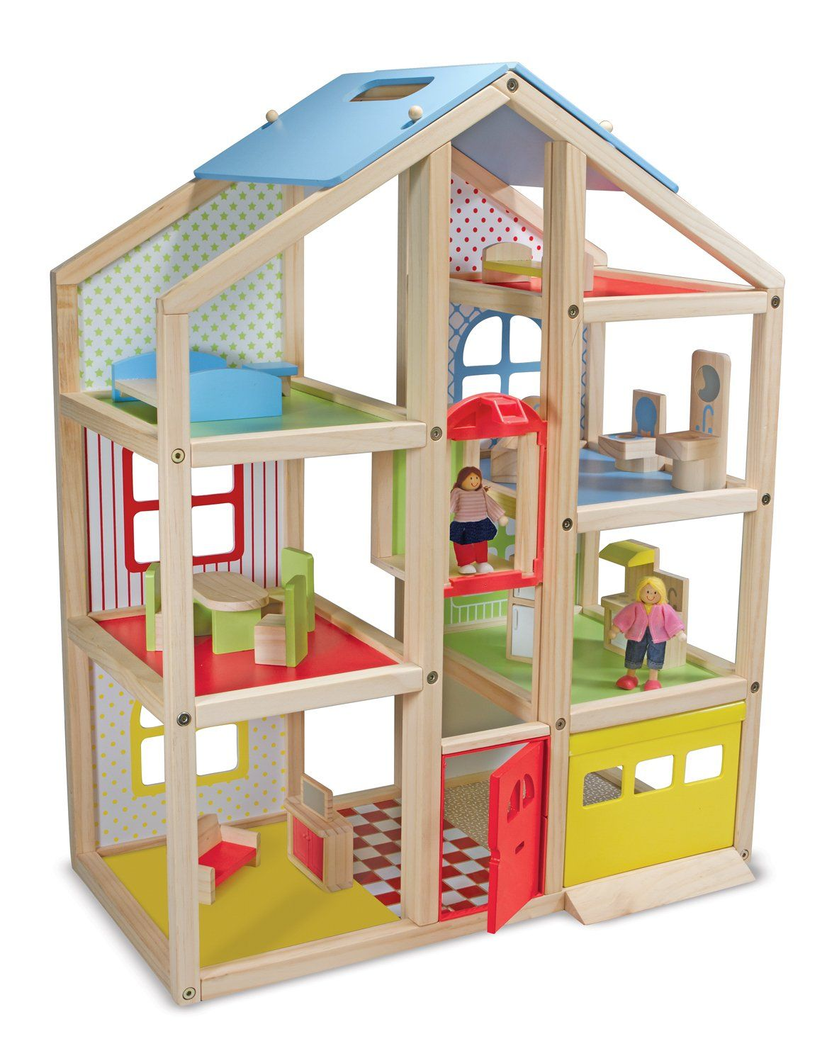 Amazon.com: Melissa & Doug Hi-Rise Dollhouse and Furniture Set: Melissa & Doug: Toys & Games