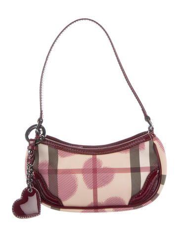 Burberry Hearts Nova Check Pochette Consignment Online Luxury White Handbag Clutches