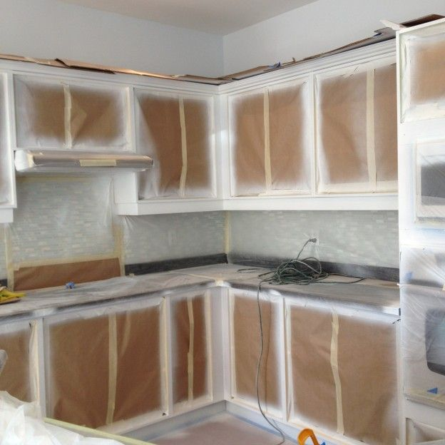 Spray Painted Base Cabinets | Kitchen base cabinets, Cost ...