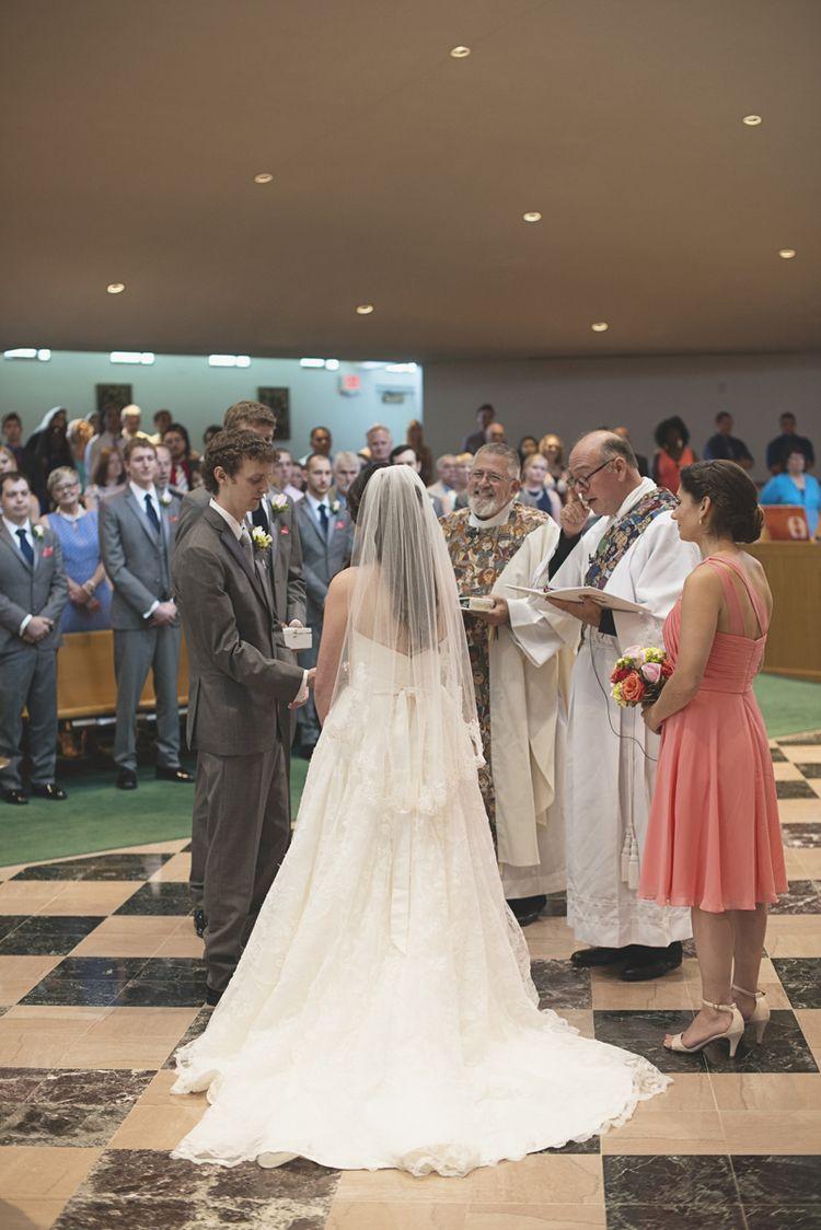 Catholic Church Summer Wedding   Wedding Ceremony