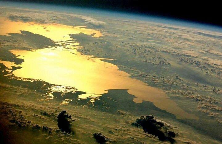 Mar Caspio desde el espacio