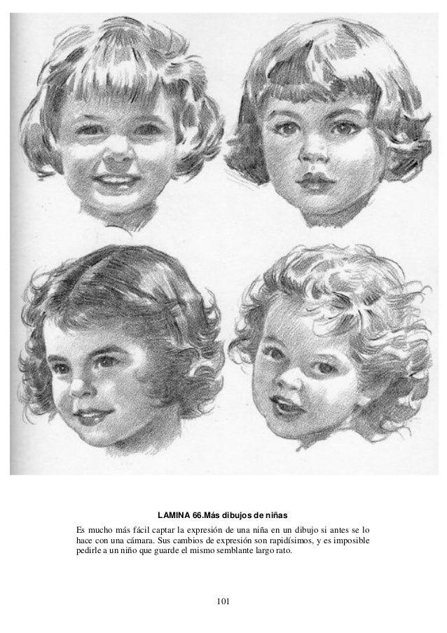 Andrew Loomis Dibujo De Cabeza Y Manos Espanol Dibujo De Bebe Bocetos De Retrato Retratos De Ninos