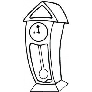 Grandfather Clock In 2021 Grandfather Clock Coloring Pages Clock